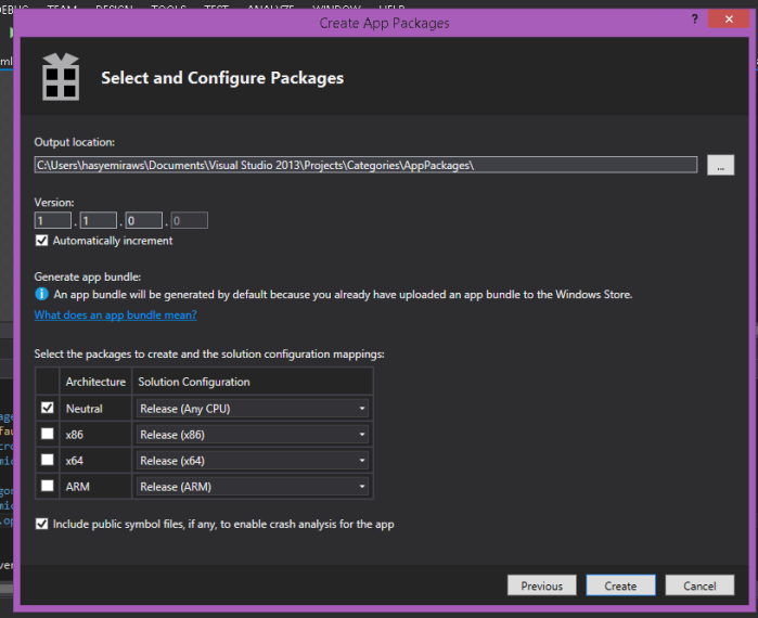 Select & Configure Project