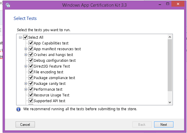 Windows Certification kit